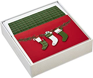Hallmark Signature Boxed Christmas Cards, Christmas Stockings (10 Christmas Cards with Envelopes)