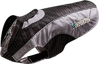 DOGHELIOS 'Reflecta-Bolt' Sporty Performance Fashion Tri-Velcro Reflective Pet Dog Coat Jacket w/Body Heat Reflection Tech...