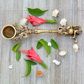 Aakrati Ganesh Spoon - Yagya Hawan, hawan Spoon, Poojan Purpose, Indian Cultural Religious Item Best for Home, Office, Gifts Diwali Puja