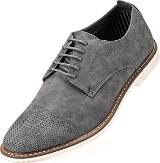 Mens Casual Shoes - Suede Oxford Business Dress Shoes for Men