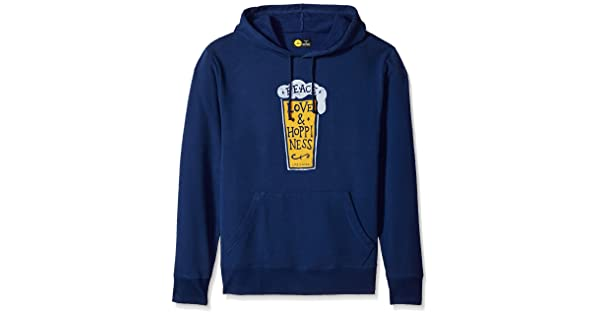 The Life is good Company Life is Good Mens Go-to Peace Love Hoppin Dstblu Hoodie