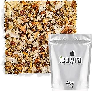Tealyra - Tropical Banana Coconut - Rooibos Red Tea - Pineapple - Mango - Herbal Fruity Loose Leaf Tea - Hot or Iced - Caffeine Free - 112g (4-ounce)