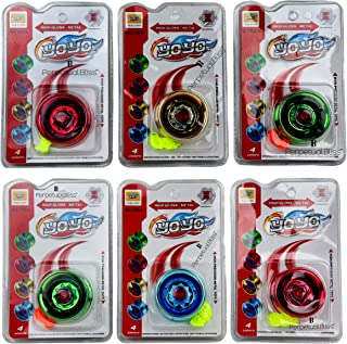 Perpetual Bliss Yoyo Spinner Toy High Gloss High Speed / Return Gifts for Kids Birthday Party (Pack of 6)