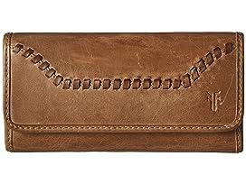 Frye Zip Leash Pocket (Rose Gold Metallic) Wallet
