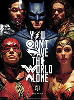 Justice League - You Can't Save The World Alone - Glow in The Dark - 1000 Piece Jigsaw Puzzle