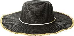 San Diego Hat Company - PBL3087OS Paperbraid Floppy w/ Gold Bar Trim