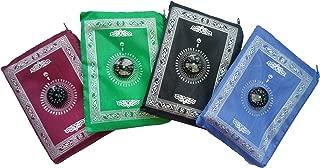 Actopus 4pcs Pocket Waterproof Muslim Prayer Mat Light Prayer Rug with Compass