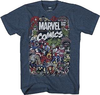 Marvel Men's Comics Retro Classic Vintage Villains Heroes Crew T-Shirt