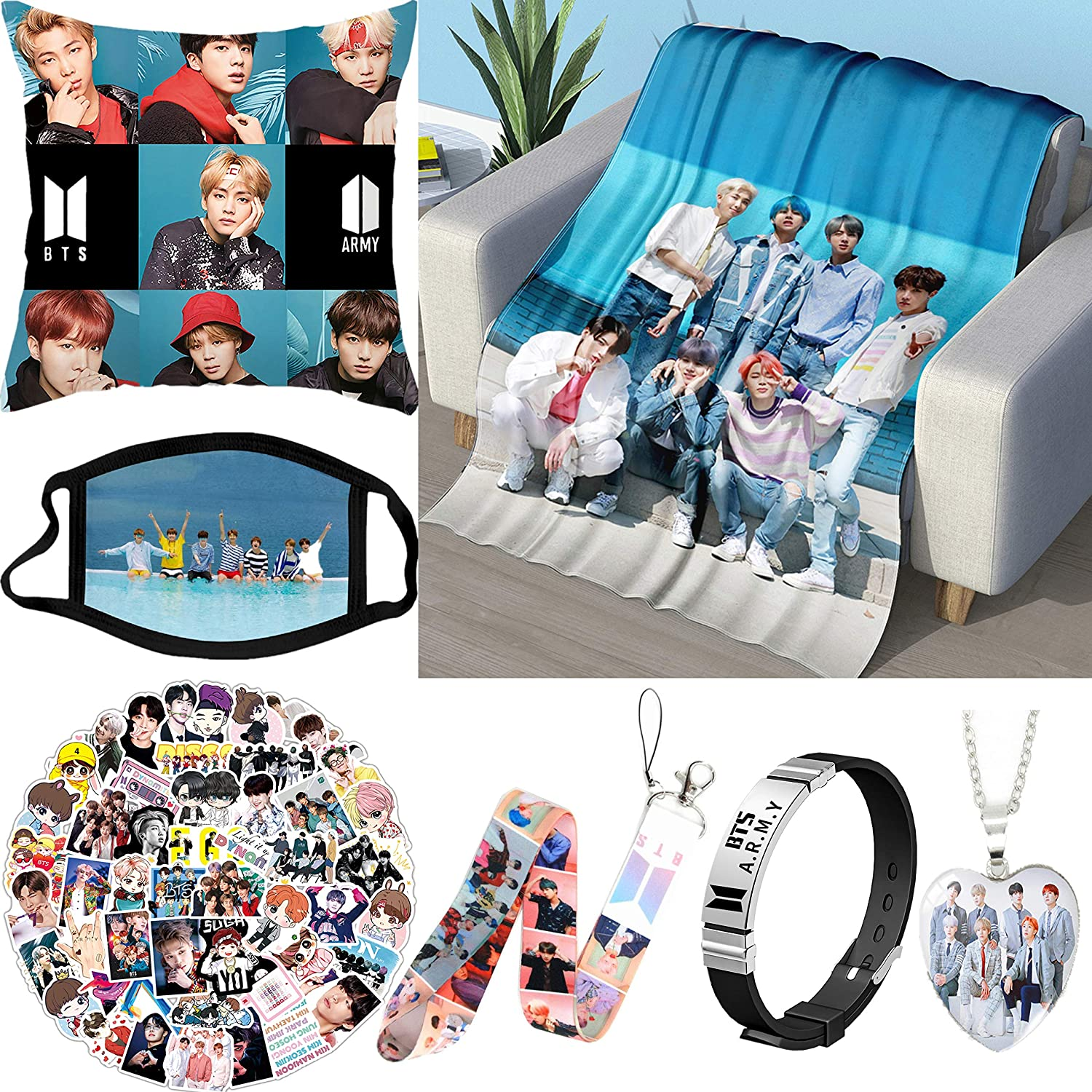 BTS Popularity Flannel High quality Blanket Gift Set 40 Including x 60