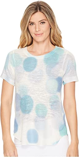Blue Bubble Short Sleeve Top