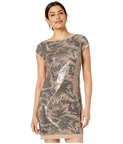 Vince Camuto Cap Sleeve T-Body Dress (Taupe) Women