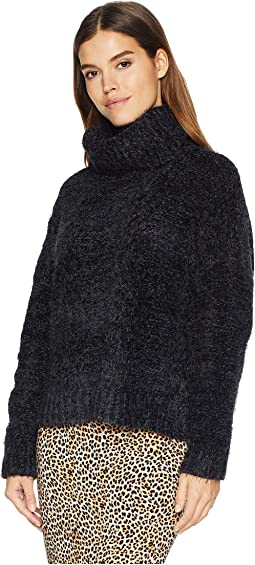 Eyelash Kisses Chenille Cable Knit Sweater