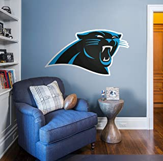 Fathead NFL Carolina Panthers Carolina Panthers: Logo - Giant Officially Licensed NFL Removable Wall Decal