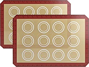 DIRECT FROM FACTORY Silicone Baking Mat (Pack of 2) - 16.5 x 11.5 inches, Reusable Baking Mat for Cookies, Macarons, Pastr...