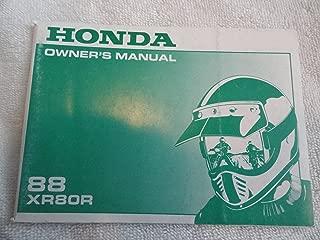 1988 Honda XR80 Owners Manual XR 80 R