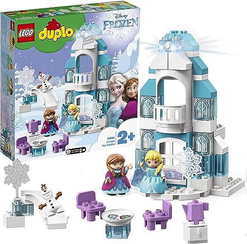 LEGO 10899 Duplo Disney Le Château De La Reine des Neiges Jeu De Construction avec Mini Poupées Anna Et Elsa, Jouet E...