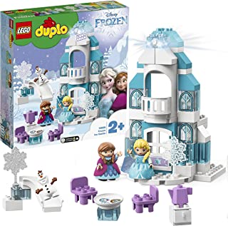 LEGO 10899 DUPLO Disney Frozen Ice Castle Princess Elsa and Anna Mini Dolls and Snowman Figure Toys for 2 Years Old Girl a...