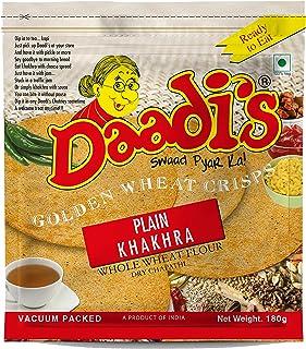 Daadi's Golden Wheat Crisps Khakhra - Plain, 180g (Pack of 3)