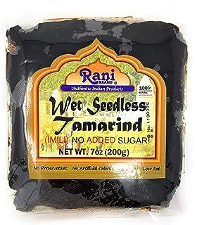 Rani Tamarind, Wet Seedless Block/Slab (Imli) 7oz (200g) ~ All Natural | No added sugar | Vegan | Gluten Free | NON-GMO | Indian Origin
