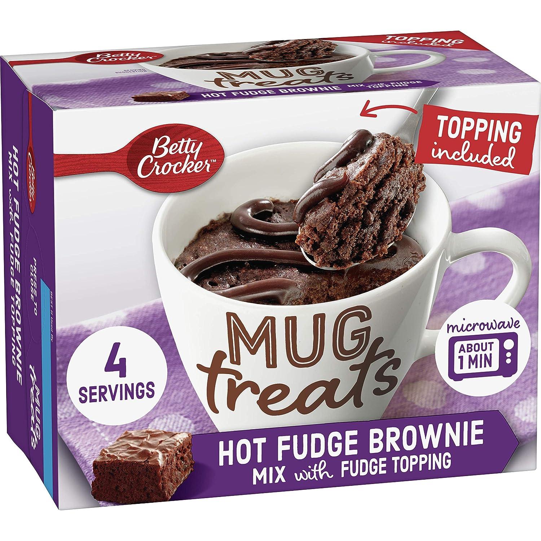 Betty Sale Crocker Mug Treats Easy-to-use Hot Fudge 13.9 oz P Brownie 4 Count