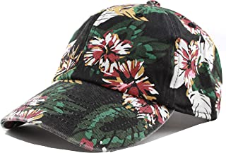 e7ce8a308fbae THE HAT DEPOT Unisex Blank Washed Low Profile Cotton and Denim Baseball Cap  Hat