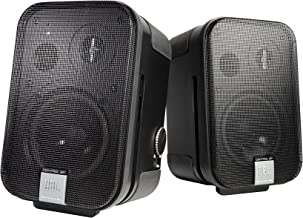 JBL Professional C2PS Control 2P Compact Powered Monitor, pair (master and extension speakers), Black