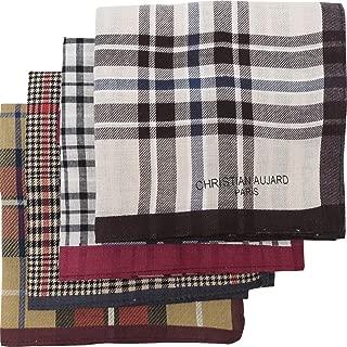 LEEVO Handkerchief Men Assorted Woven Cotton 100% Hankies Fashion Gift Box Bulk