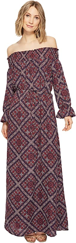 Brigitte Bailey - Ellinor Off the Shoulder Printed Maxi Dress