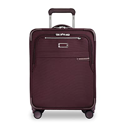 Briggs & Riley Baseline International Carry-On Expandable Wide-Body Spinner (Plum) Carry on Luggage