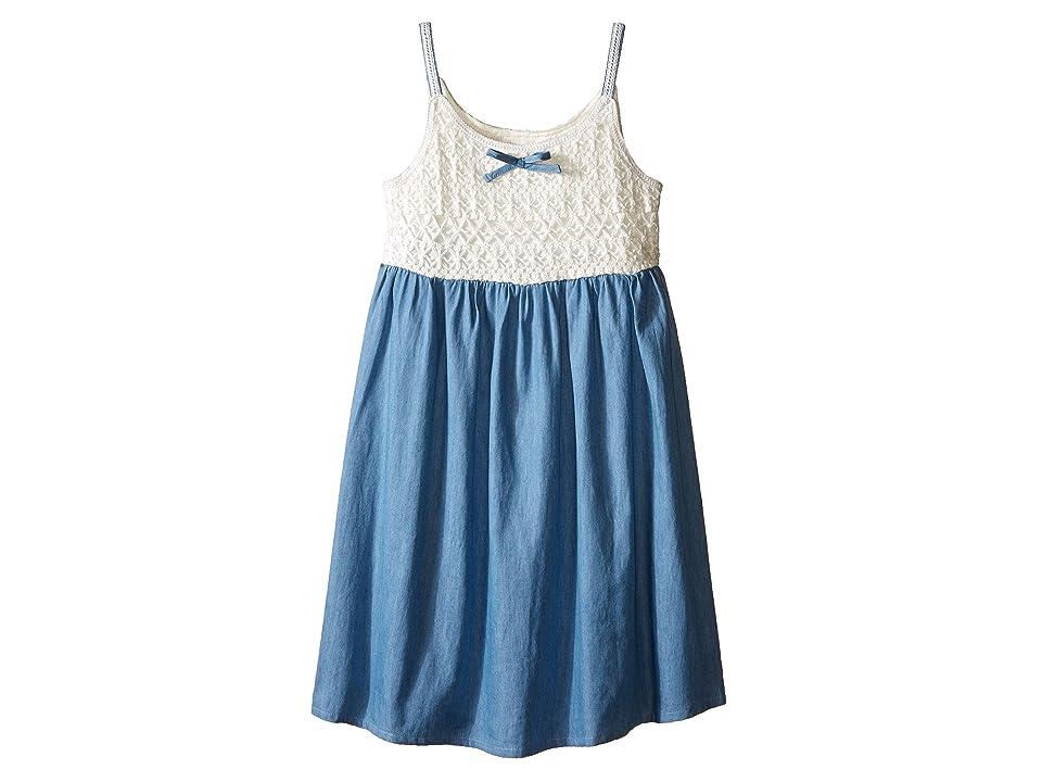 Lucky Brand Kids Crochet Bodice Dress (Little Kids) (Bleach Wash) Girl