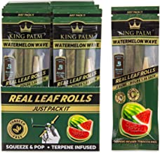 King Palm Flavors Slim Size Cones - 20 Pack, Display - Terpene Infused - Squeeze & Pop Pre Rolls - Organic Flavored Pre Ro...