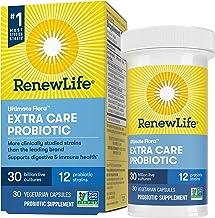 Renew Life Probiotics 30 Billion CFU Guaranteed, 12 Strains, For Men & Women, Shelf Stable, Gluten Dairy & Soy Free, 30 Ca...
