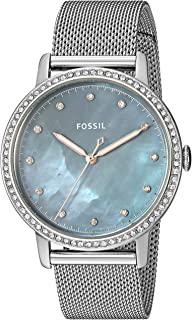 Fossil Womens Quartz Watch, Analog Display and Stainless Steel Strap ES4313