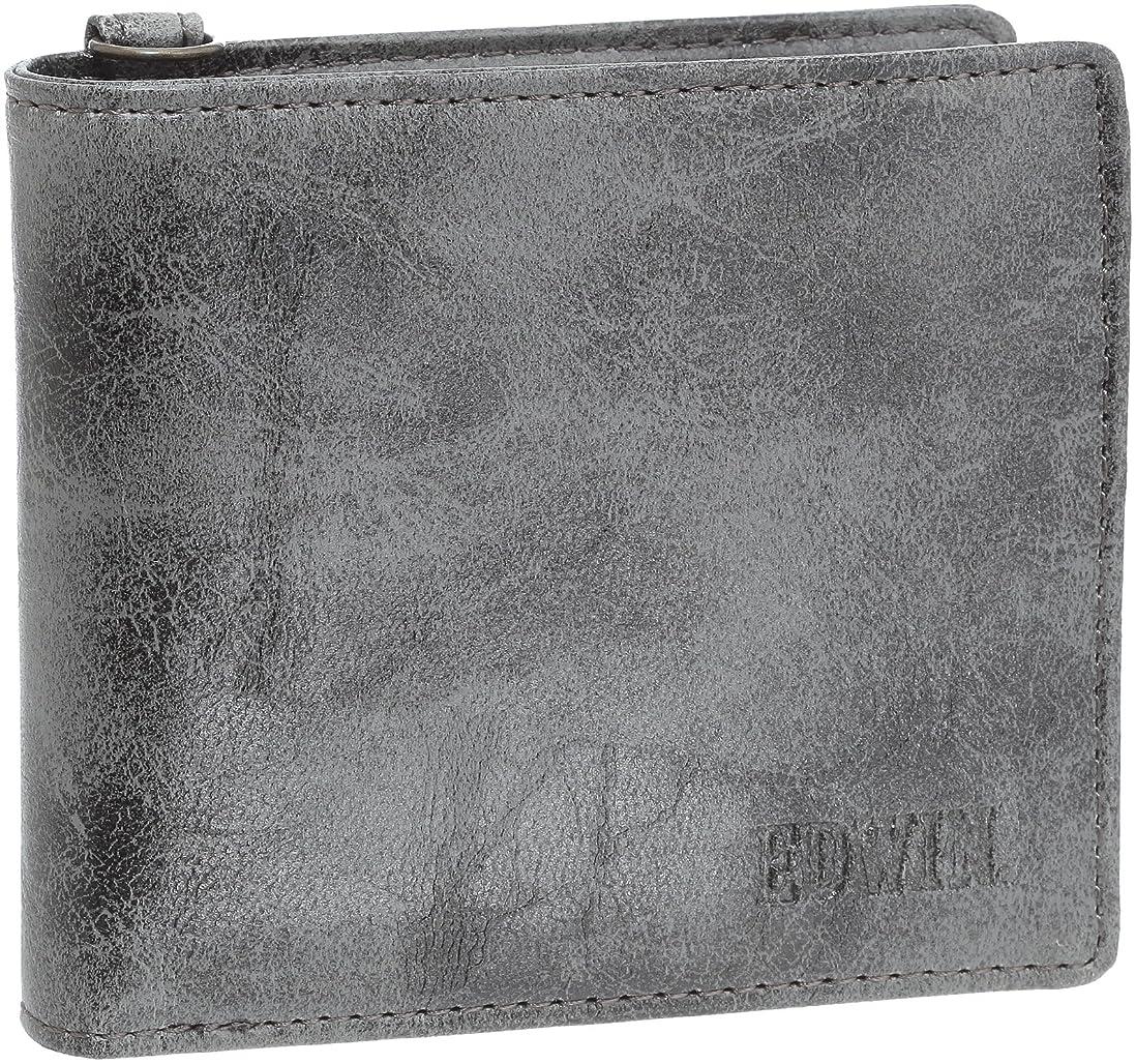 発明する家畜自慢[エドウィン] 二つ折財布 レトロ合皮