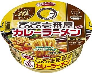 エースコック ロカボデリ COCO壱番屋監修 カレーラーメン 糖質オフ 72g ×12個