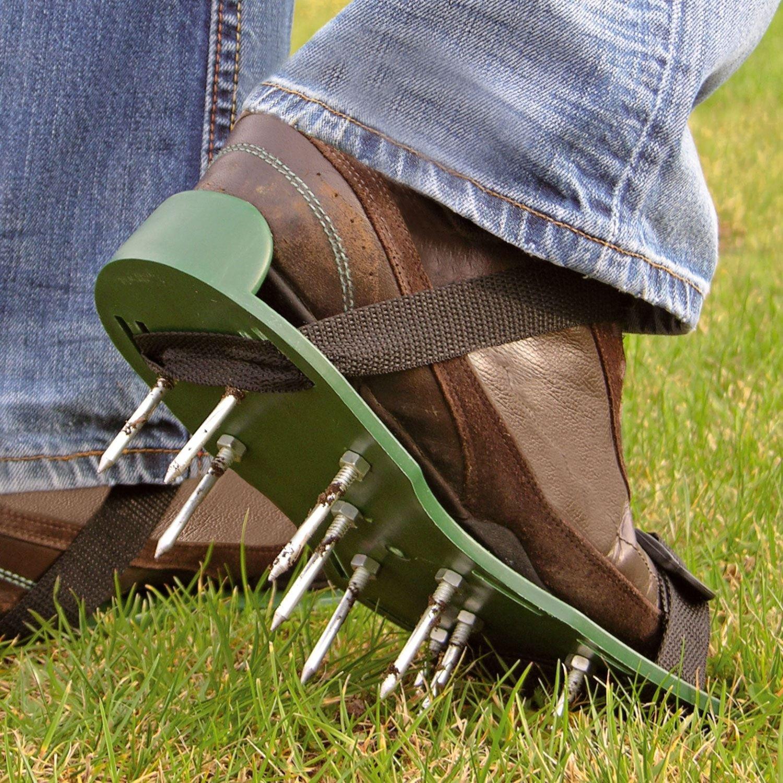 Zapatos Parkland® con picos para jardín y césped aireador, zapatos respirables – 2 correas ajustables, 13 x 5 cm de profundidad en los picos.: Amazon.es: Hogar