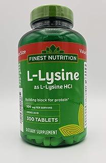 Finest Nutrition L-Lysine 500mg, 300 Tablets