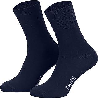 Piarini, 8 pares de calcetines unisex - Sin elástico - Ajuste cómodo - Caña de elastano y piqué
