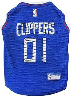 قميص رياضي للكلاب بشعار فريق لوس أنجلوس كليبرز بالرابطة الوطنية لكرة السلة، مقاس صغير - قميص بدون أكمام للحيوانات الأليفة