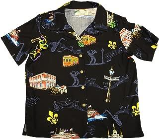 Mardi Gras 2013 Women's Hawaiian Aloha Rayon Shirt