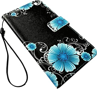 For LG X Charge M322 / LG Fiesta LTE L63BL L64VL Wallet Card Phone Cover Case + Gift Stand (Wallet Midnight Flower)