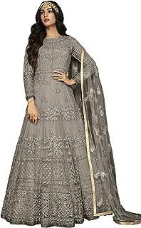 ARIA FABRICS Women's Net Anarkali Suit