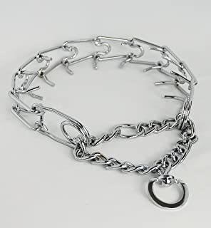 Dog-Thing It's a Dog Training Prong Collar, Metal Collar for Large Dog Obedience Training. Better Than a Choke Chain or Other Dog Collars to Stop Pulling During Dog Walking