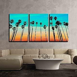 california palm tree sunset