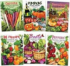 Seed Needs Rainbow Vegetable Seed Collection (35+ Varieties of Carrots, Peppers, Pumpkins, Tomatoes & Beets!) Non-GMO Seeds