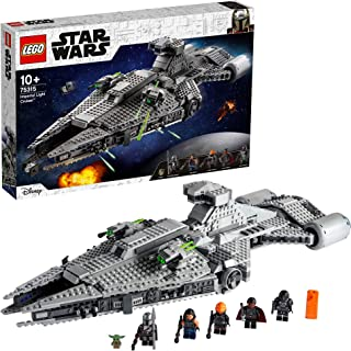 LEGO 75315 Star Wars Imperial Light Cruiser Building Toy with The Child Baby Yoda Figure and Mandalorian Minifigure, Gift ...