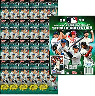 2019 Topps MLB Baseball Sticker Starter Kit (20 packs & 1 album)