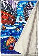 Liquid Blue Men's Grateful Dead Ship of Fools Warm Coral Fleece Throw Blanket, multi, 50