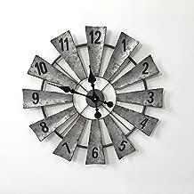 Hunter Garden Crafts Metal Windmill Wall Clock 23