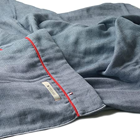 ブルーム 今治タオル 認定 ビレア ガーゼケット 5重ガーゼ タオルケット 綿100% やわらか ガーゼ生地 日本製 (ネイビー, シングルサイズ)